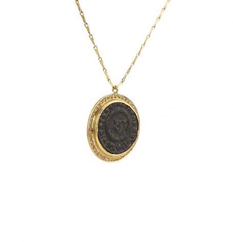 Roman Coin Pendant Necklace