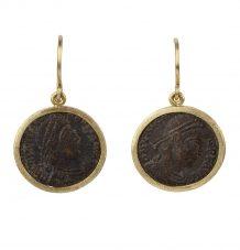 Bronze Roman Coin Earrings