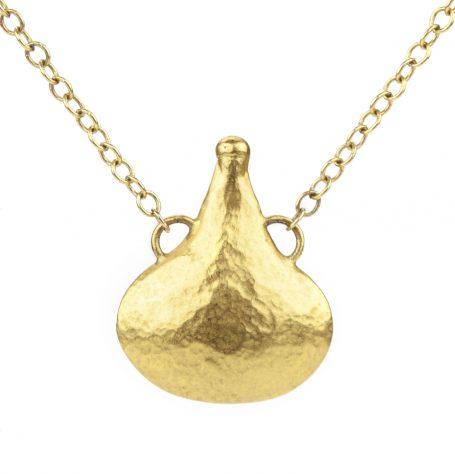 Oriental Gold Bottle Pendant Necklace