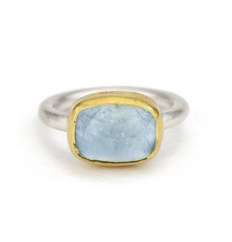 Cabochon Aquamarine Ring