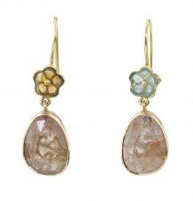 Sapphire and tourmaline earrings