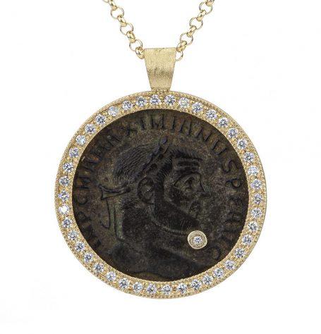 Antique Bronze coin necklace