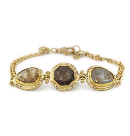 Diamonds and Sapphires bracelet