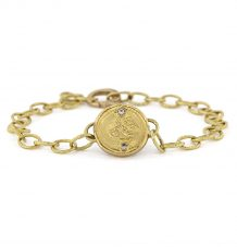 Antique gold coin bracelet