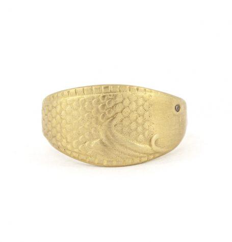 18k gold fish ring