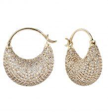 Half Moon Pave Diamond Earrings