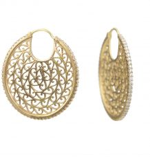 18k gold filigree earrings